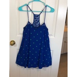Hollister XS Blue with Green Polkadots Dress